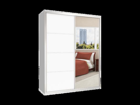ארון הזזה 2 דלתות דגם MTC דלתות מראה + מלמין במבחר צבעים ניתן לשדרג לרוחב עד 200 ס''מ, , large image number null