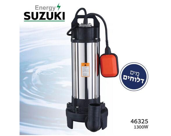 """משאבת מים דלוחים מקצועית - 2850 סל""""ד , גוף המשאבה עשוי נירוסטה, , large image number null"""