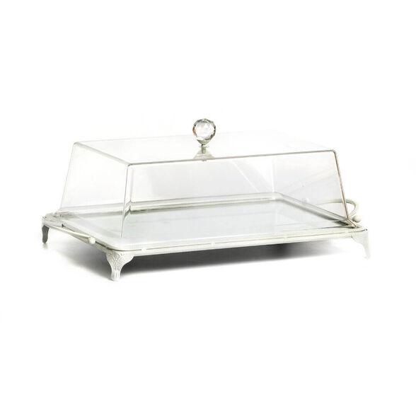 מגש לעוגה מלבני עם מכסה פלסטיק בעיצוב קלאסי מבית Novell collection, , large image number null