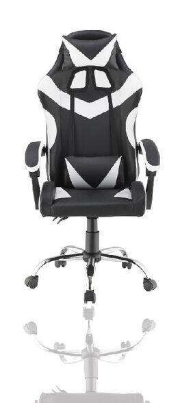כסא גיימינג גבוה עם 2 כריות תמיכה ובסיס כרום מבית NINJA EXTRIM דגם PRO3_לבן, , large image number null