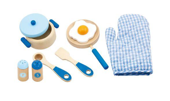ויגה סט כלי מטבח + כפפה כחול, , large image number null