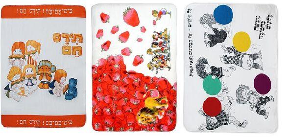 """מארז 3 שמיכות פליז מהספרים 100/50 ס""""מ   השמיכות משלבות איורים וטקסטים מהסיפורים ומאפשרים לילדים לקחת עמם למיטה את הדמויות האהובות מהספרים המוכרים   משלוח חינם בצ'יטה בוקס, , large image number null"""
