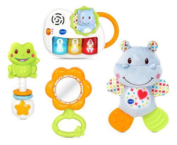 סט המתנה הראשון שלי - 4 צעצועי התפתחות באריזה מעוצבת -צבעוני, , large image number null