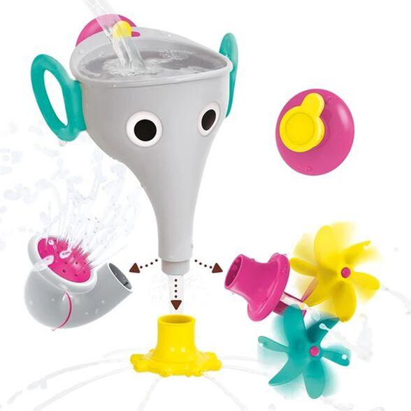 צעצוע אמבט - פיל שלושה מתזים מתחלפים עם מתלה - אפור, , large image number null