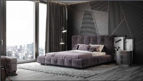 מיטה זוגית מרופדת בעיצוב מודרני - דגם דייגו, , large image number null