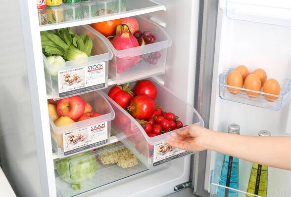 מסדרים את המקרר והבית! סט 3 קופסאות אחסון ענקיות בנפח 5.8 ליטר בעלות זוג גלגלי גרירה,מושלם לסדר במקרר, במזווה ולצעצועים, , large image number null