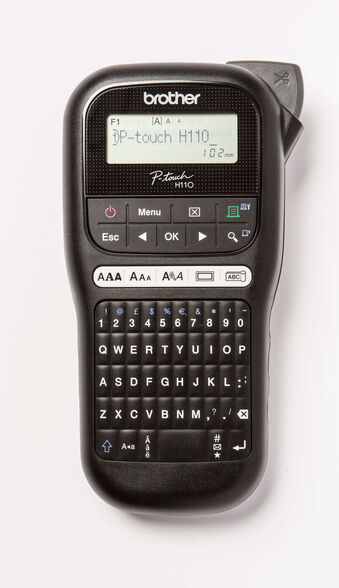 מדפסת מדבקות ידנית ניידת מבית Brother דגם PT-H110 עצבו ויצרו תוויות עמידות לטווח ארוך בקלות ובמהירות , , large image number null