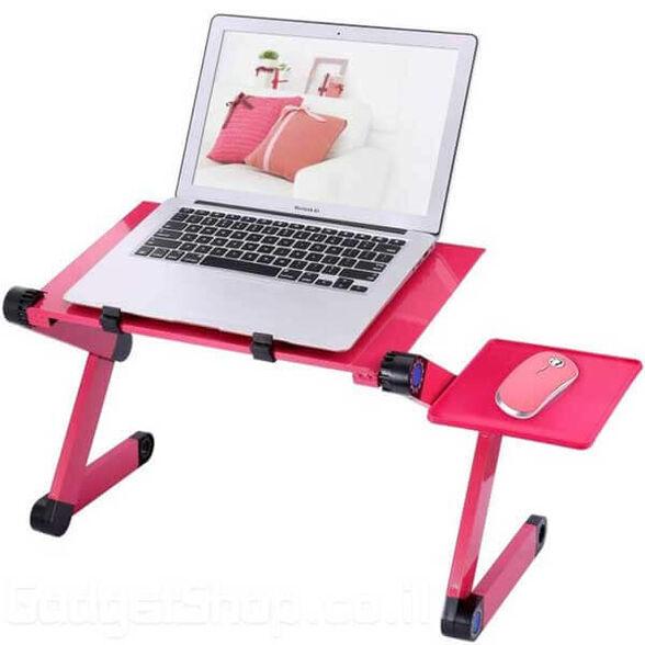 שולחן מתכוונן למחשב נייד ורוד , , large image number null