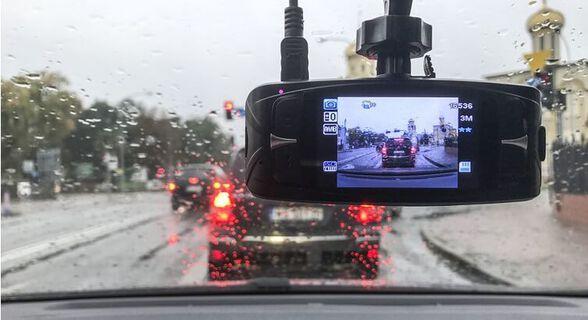 מצלמת רכב משולבת עם צג ו-2 מצלמות קדמית ואחורית לצילום הדרך וצילום התנועה מאחור וגם בזמן ורוורס , , large image number null