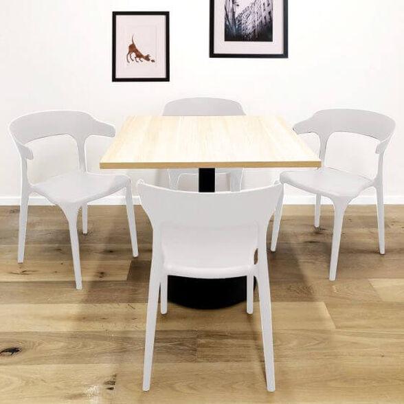 סט 4 כסאות דקורטיבים פנים + חוץ בתקן UV   צבע לבחירה_לבן, , large image number null