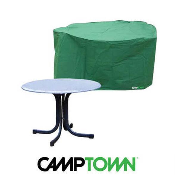 כיסוי איכותי לשולחן עגול גדול לשמירה והגנה מפני נזקי גשם ושמש, , large image number null