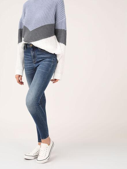 LOLA ג'ינס סקיני משופשף גבוה, , large image number null