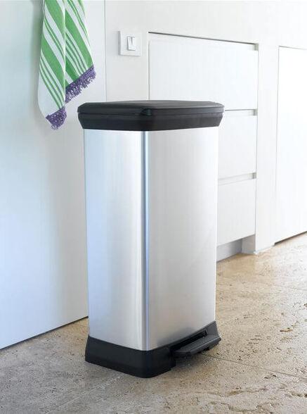 פח דקו 50 CURVER DECO BIN | פח פדל בנפח 50 ליטר מתאים במיוחד למטבח או חדרי שירותים גדולים ., , large image number null