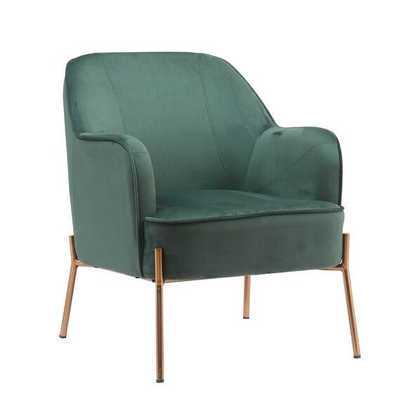 כורסא מעוצבת ונוחה עם רגלי זהב HOME DECOR דגם יורק-ירוק , , large image number null