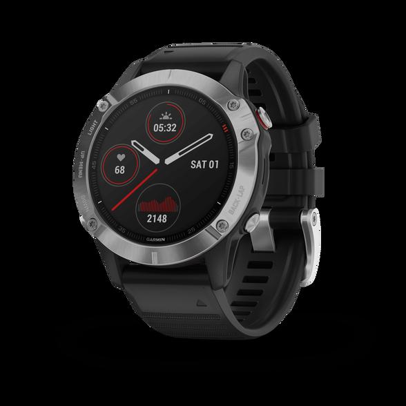 שעון דופק מולטי ספורט מבית גרמין! fenix 6,Pro,Black w/Black Band ,GPS   דגמי 2019   יבואן רשמי, , large image number null