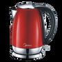קומקום נירוסטה בעיצוב מודרני W2200 גימור אדום 1.7 ליטר