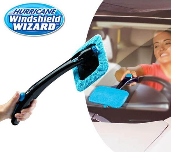 HURRICANE WINDSHILD WIZARD - מנקה שמשות מתקפל עם ראש מתכוונן ולחצן להתזת מים 1+1 מתנה, , large image number null