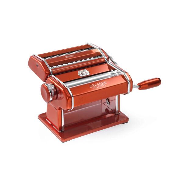 מכונת פסטה איטלקית Marcato Atlas 150 אדומה היחידה בעולם עם 10 שנות אחריות | מתאים לרידוד וחיתוך חלק, , large image number null