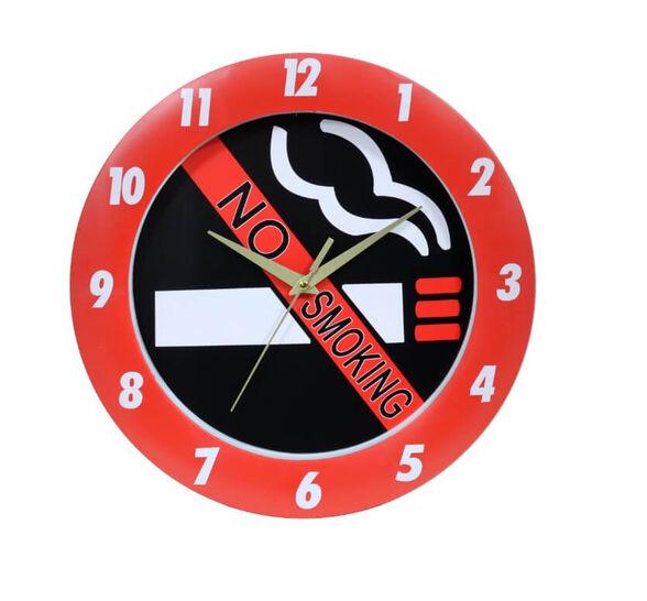 שעון קיר אסור לעשן, , large image number null