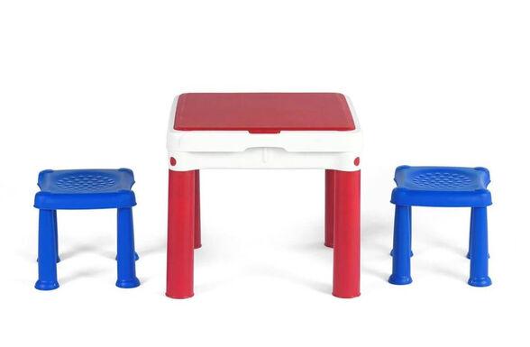 שולחן משחק להרכבה ושעות של פעילות + 2 שרפרפים לנוחות ישיבה עבור הילדים | מתאים במיוחד לילדים בגילאי 3-7 ., , large image number null