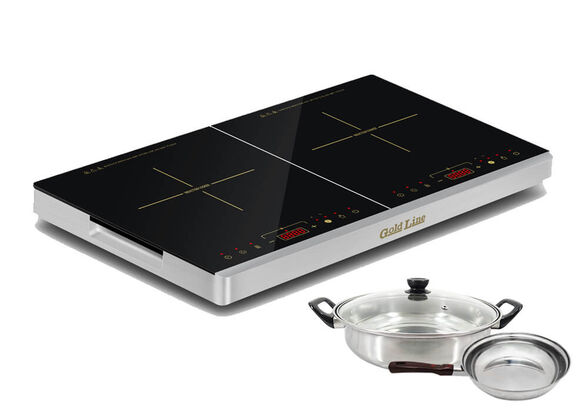 כירה חשמלית 3100W המיועדת לבישול ופועלת באמצעות טכנולוגית אינדוקציה חדשנית | סיר ומחברת אינדוקציה מצורפים במארז! , , large image number null