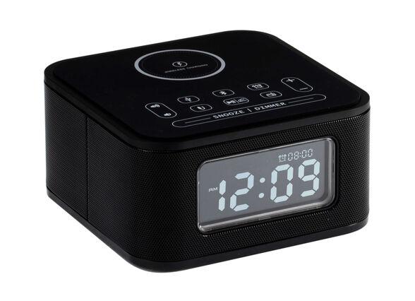 רמקול רדיו VICTURIO D2 כולל שעון מעורר ומשטח טעינה אלחוטי   תואם לסמארטפונים, טאבלטים ומחשבים הכוללים Bluetooth , , large image number null