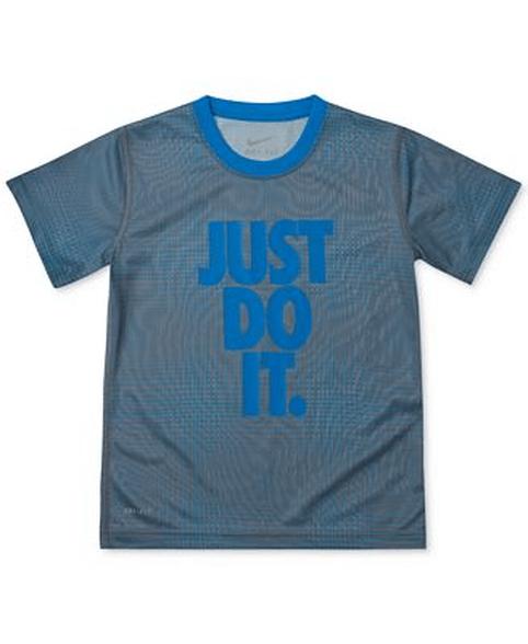 חולצת דריי פיט מעוצבת שרוול קצר לילדים מסדרת פרופומנס NIKE   מגוון מידות לבחירה, , large image number null