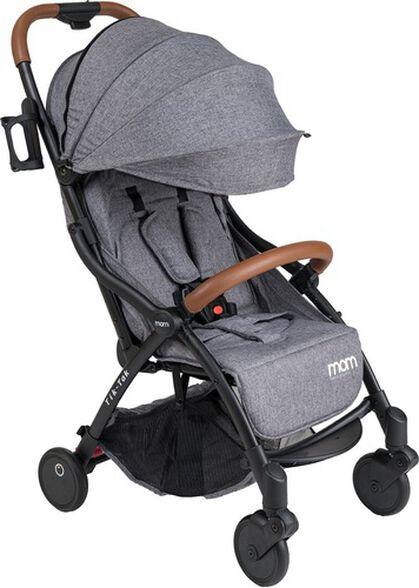 טיולון קומפקטי לתינוק עם קיפול אוטומטי טיק טק פלוס TIK TAK PLUS - אפור/שלדה שחורה/פגוש חום, , large image number null