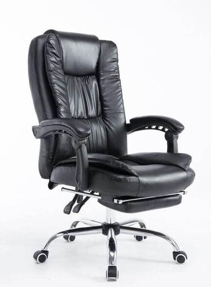 כיסא מנהלים משרדי יוקרתי דמוי עור כולל הדום בעל עיצוב מודרני, , large image number null
