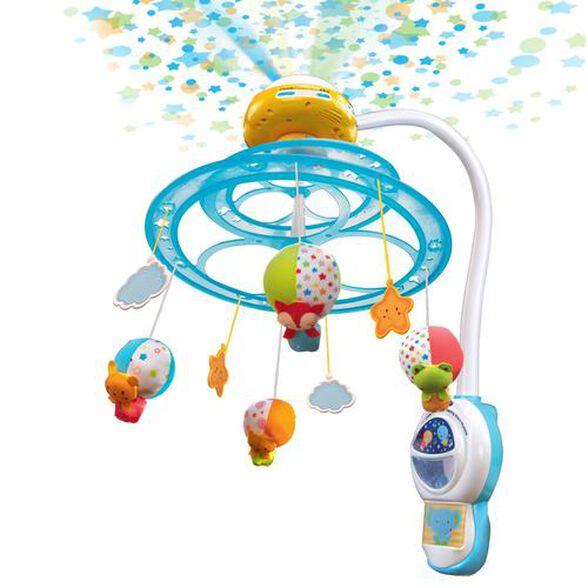 מובייל כוכבים לתינוק משולב עם מקרן וחיישן הפעלה אוטומטי - שירים בעברית, , large image number null