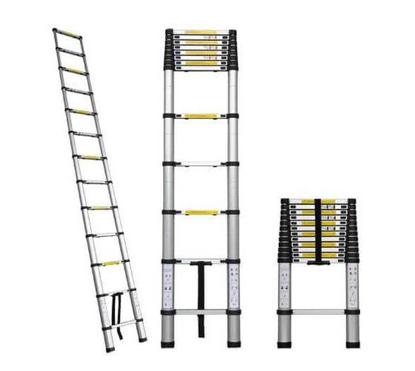 """סולם אלומיניום יחיד 4.4 מטר (בהשענה על הקיר) עם 14 שלבים   לסולם יכולת לשאת משקל של עד 150 ק""""ג, , large image number null"""
