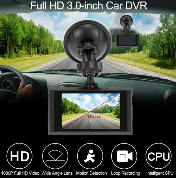 מצלמת דרך FULL HD 1080P לרכב עם מסך LCD ענק 3 אינץ איכותי לתעוד מלא של הנסיעה ברכב , , large image number null
