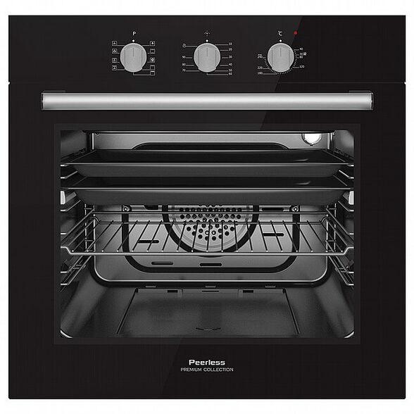 תנור אפיה בנוי 60 ליטר 9 תוכניות בישול ואפייה דירוג אנרגטי A מבית PEERLES דגם  PR-5500 לבן שחור _שחור, , large image number null