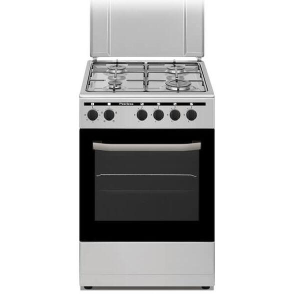 """תנור משולב כיריים גז 50 ס""""מ בנפח 50 ליטר , בעל 4 מבערים ו - 4 תוכניות בישול ואפייה מבית PEERLESS דגם PR-5005IX - גימור כסוף , , large image number null"""