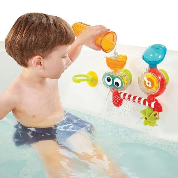 צעצוע אמבט - מעבדת מים שקופה מסובבים ומשפריצים, , large image number null