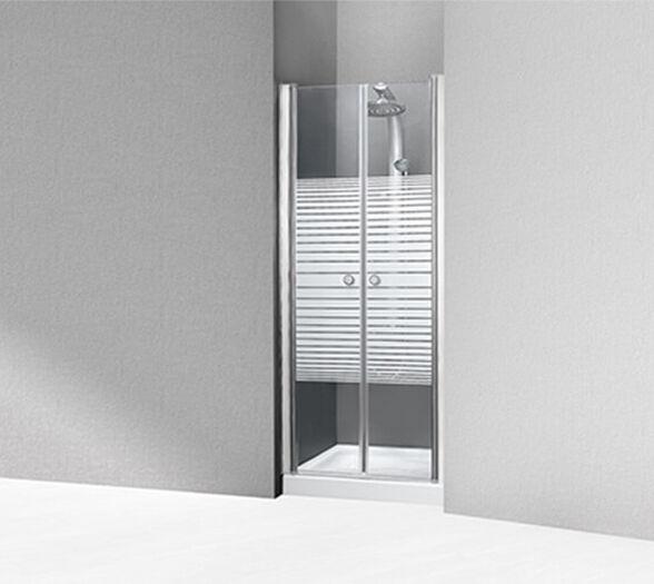 מקלחון חזיתי שתי דלתות הנפתחות פנים חוץ 180 מעלות |שלושה גדלים לבחירה |- דגם אלון , , large image number null