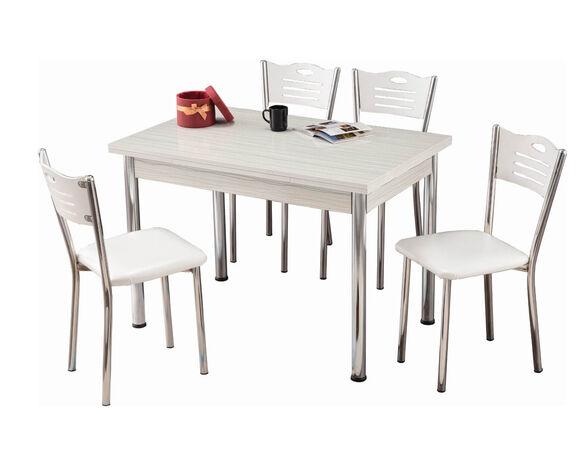 """פינת אוכל עם שולחן  110-70/75 ס""""מ נפתח עד 170 ס""""מ + 4 כיסאות מבית PLANERO, , large image number null"""