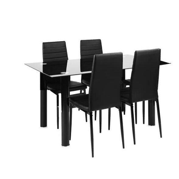 פינת אוכל מודרנית דגם וניס 4 מבית Homax | צבע כסא לבחירה, , large image number null