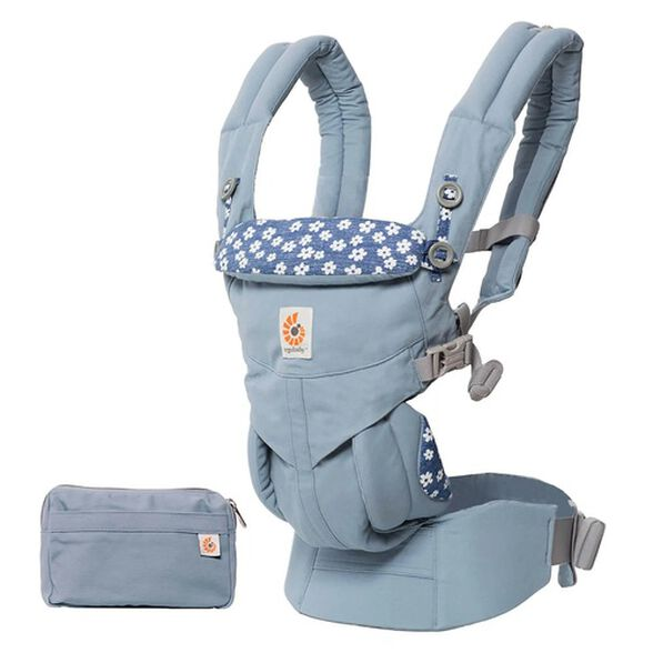 מנשא לתינוק הכל באחד מגיל לידה אומני 360 Omni - תכלת Blue Daisies, , large image number null
