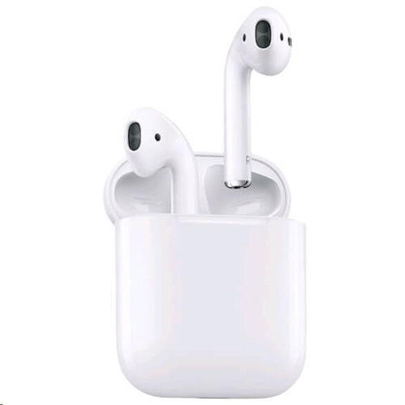 אוזניות אלחוטיות Apple AirPods 2 True Wireless – צבע לבן שנה אחריות יבואן רשמי   (מארז טעינה לא אלחוטי), , large image number null