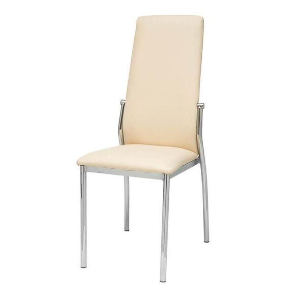 כיסא אוכל מרופד דמוי עור בציפוי מתכת במגוון צבעים לבחירה דגם סחלב, , large image number null