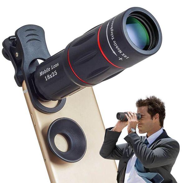 טלסקופ לסמארטפון עם הגדלה 18X המתאים גם לשימוש ללא טלפון נייד, , large image number null