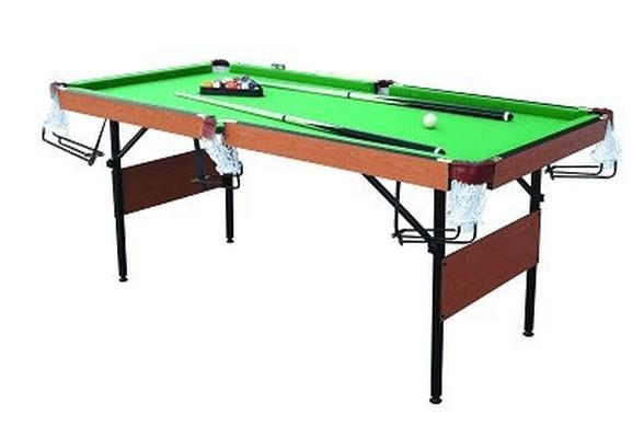 שולחן סנוקר 6 פיט עם מסילות לכדורים חצי מקצועי דגם 91305, , large image number null