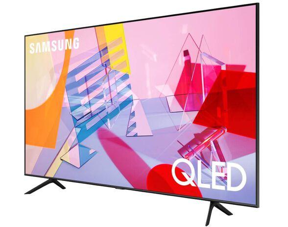 """טלויזיה 55"""" Smart 4K QLED מהסדרה החדשה - אינדקס איכות תמונה 3100 PQI טיונר עידן פלוס ואינטרנט אלחוטי מובנה מבית SAMSUNG דגם QE55Q60T   כולל התקנה ומתקן קיר חינם, , large image number null"""