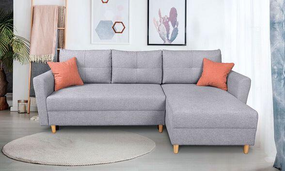 """""""שמרת הזורע"""": ספה פינתית מעוצבת נפתחת למיטה וכוללת ארגז מצעים, דגם פלורנס, , large image number null"""