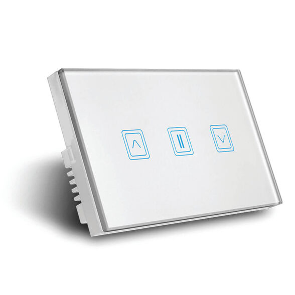 מתג תריס חכם זכוכית לבנה , , large image number null
