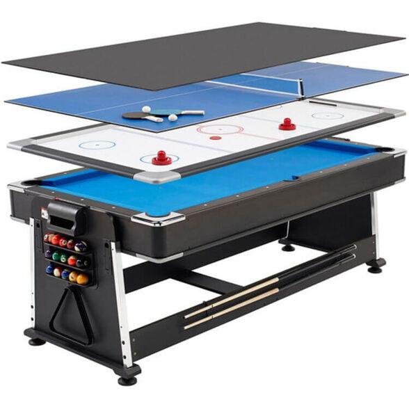שולחן משחק / אוכל איכותי בעיצוב מודרני בעל 4 מצבים – שולחן ביליארד, הוקי, פינג פונג  ושולחן אוכל ., , large image number null