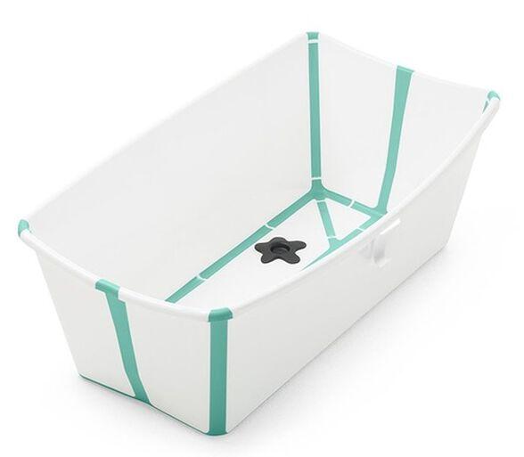 Flexi Bath אמבטיה מתקפלת לשימוש בבית ובנסיעות - לבן/ירוק, , large image number null