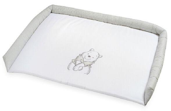 משטח החתלה מעוצב לשידת תינוק עם בד מונע החלקה - פו הדב אפור/לבן, , large image number null