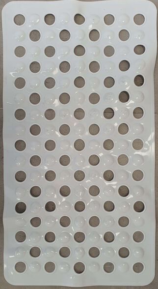 """שטיח אמבטיה לבן דגם """"בועות""""   מבנה מעוצב ייחודית למניעת החלקה! ZM מקבוצת חמת, , large image number null"""